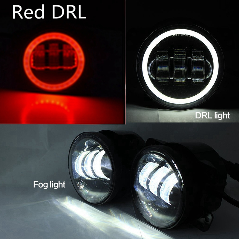 Pair 4 Inch Round Led Fog Lights 30W Projector lens White Beam 6000K Fits Jeep Wrangler Jk<br><br>Aliexpress