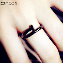 Buy Hot Screw Nail Rings Fashion Women Black Tornillo Ring Female Opening Adjustable chiodo anello visser Rings girls Jewelry for $1.50 in AliExpress store