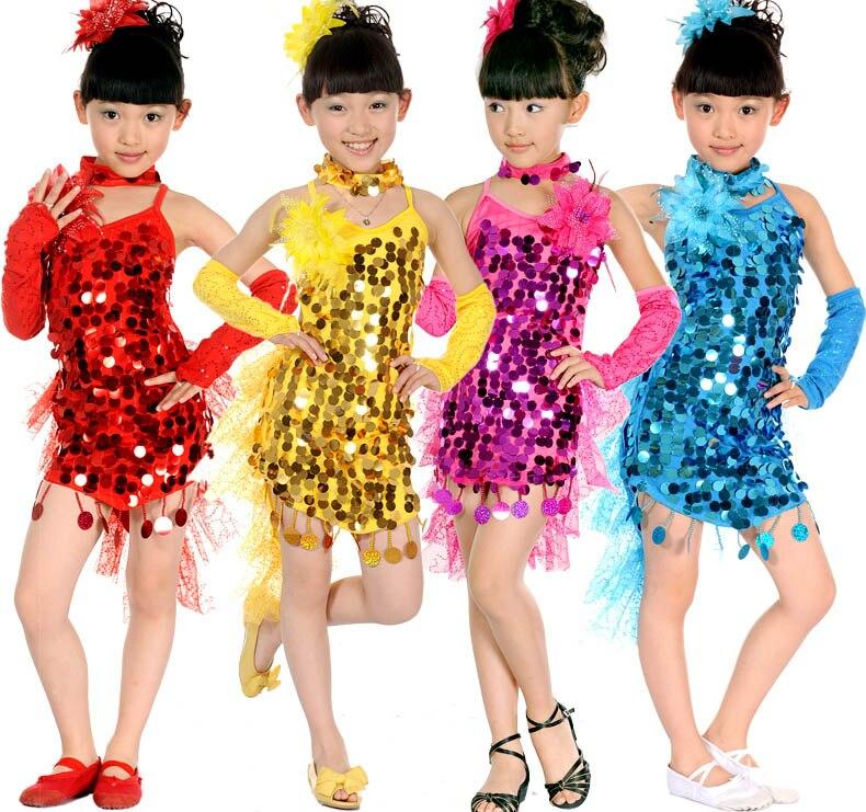 Childrens costumes Childrens Latin dance clothing modern new girls Latin dance costume dance dress  princess<br>