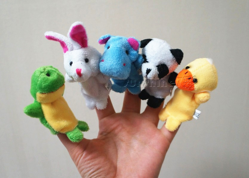 Plush 10 finger Puppets Baby Lovely Mini Animal Finger Dolls Tell A Story Toy Flannel Toy Fingures Puppet Early Learning<br><br>Aliexpress