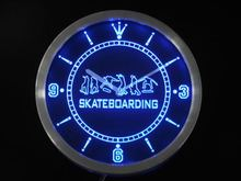 nc0359 Skateboarding Training Game Neon Sign LED Wall Clock(China)