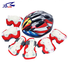 XS Cycling Kids' Helmet 7pcs/sets Ice Skating Protector Quality Safety Helmet Bicycle Sports Elbow Knee Pads Child Bike Helmets