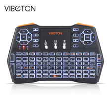 VIBOTON i8 Plus Handheld Backlight Mini Wireless Keyboard TouchPad For TV Box Gaming Air Mouse Remote Control Russian Spanish(China)