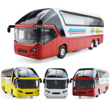 1/32 scale diecast car model New York Red Double Decker Sightseeing Tour Bus 1/32 Diecast Model Collectionable W light&sound l40