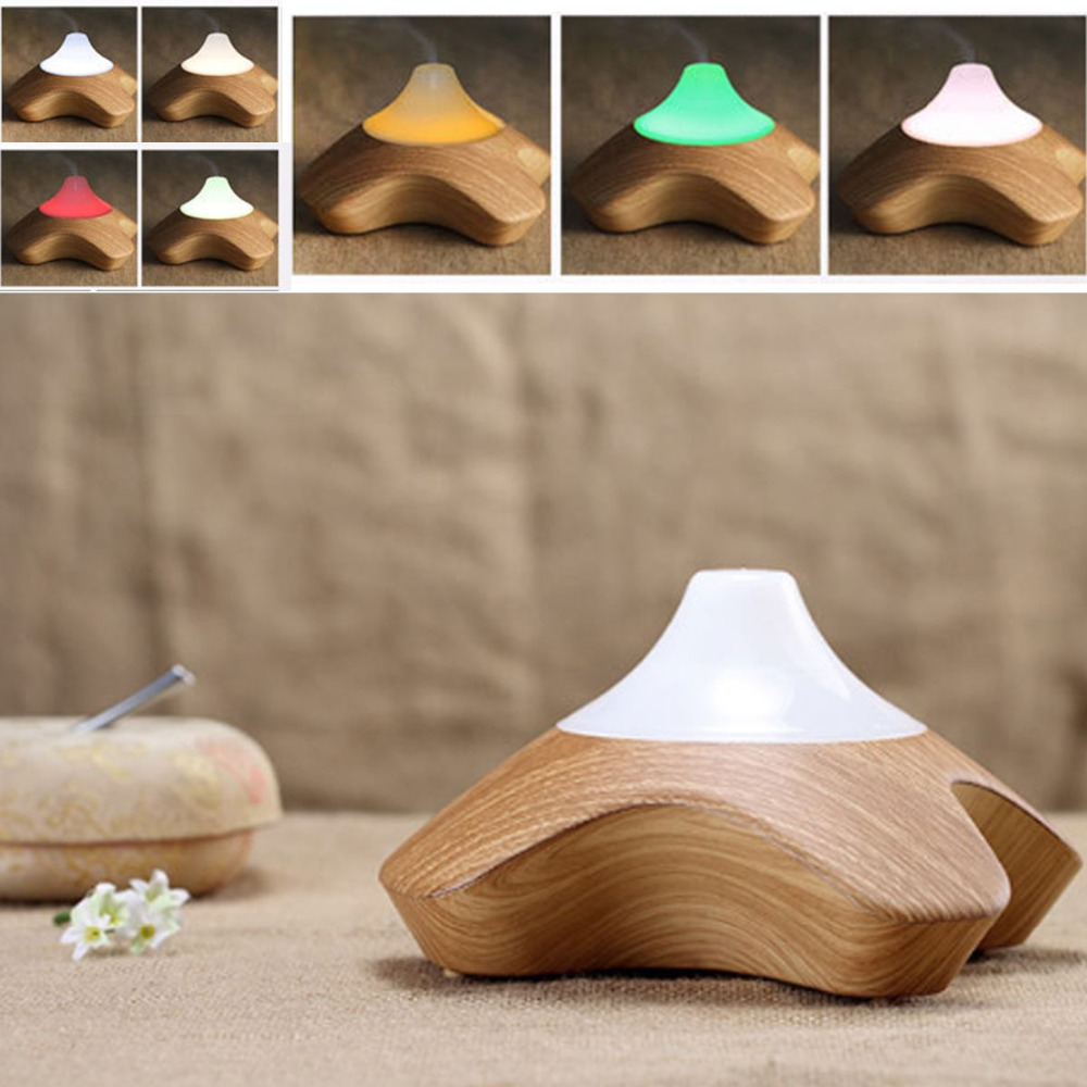 Led Ultrasonic Air Humidifier Essential Oil Diffuser Wood Grain Hot Aroma Diffuser for Home Air Purifier Aromatherapy Diffuser<br>