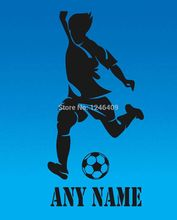 Custom made Personalized Football Player Vinyl cool Wall Sticker Any Name Art Decal Custom Gift-You Choose Name and Color