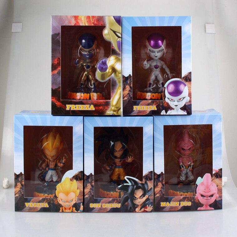5pcs Super Saiyan 4 Son Goku Gokou Gotenks Majin Buu Freeza Frieza Akira Toriyama Dragon Ball GT Cute 6 Action Figure<br><br>Aliexpress