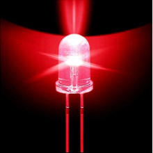 wholesale 100 pcs 5mm Round Red Super bright emitting diode LED Light 5000MCD