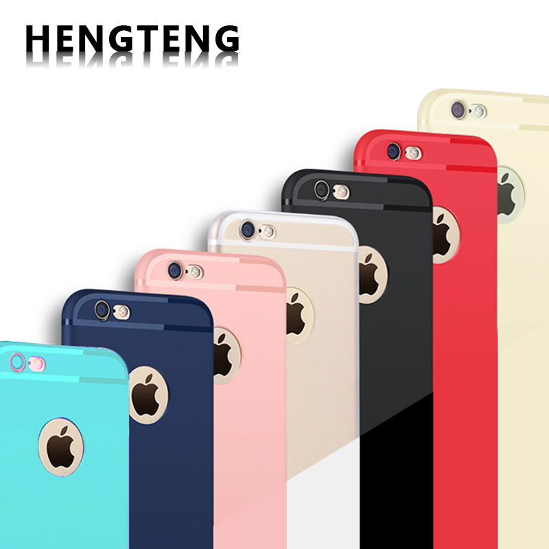 Phone cases iPhone 6 6s 6plus 7 7plus luxury ultra slim Phone back cover Micro Scrub Candy colors TPU protective shell