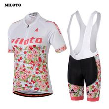 MILOTO Team Womens Cycling Clothes Jersey Sets Ropa Ciclismo Bib Shorts Racing Mountain Bike Girls Bicycle Sports Suit S-4XL