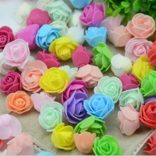 30PCS/Bag Mini PE Foam Rose Flower Head Artificial Rose Flowers Handmade DIY Wedding Home Decoration Festive & Party Supplies