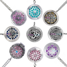 1pc Hollow Vintage Aromatherapy Perfume Essential Oils Diffuser Necklace Locket Necklace Pendant Dream Catcher Necklace(China)