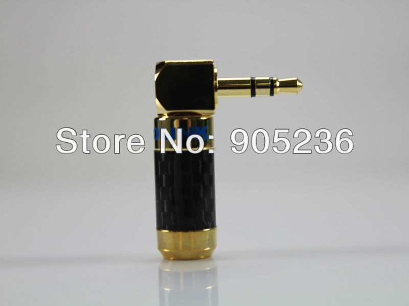 ACROLINK CF 3 5L 24K Gold Plated 3 5mm Stereo Jack Male Carbon Fiber 90 Degree
