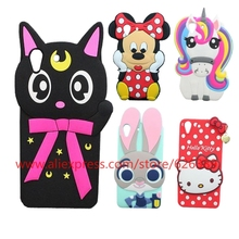 For HUAWEI Y6II Y6 II 2 Honor 5A Cartoon Moon Cat Sulley Tiger Hello Kitty Minnie Judy Stitch Silicone 3D Back Case Cover(China)