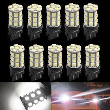 CYAN SOIL BAY 10Pcs 3157 3156 27SMD 5050 Reverse Brake Turn Tail Back Up LED Light Bulb White(China)