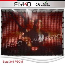 new products from market flexible led curtain price P5 3X4M