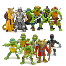6pcs/lot Turtle action Figure toys set 2017 New turtle 1988 action figure doll home decoration party supply gifts kid(China)