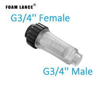 Water Filter for pressure washer 3/4 Female thread and 3/4 Male Thread