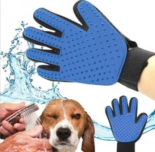 Silicone pet brush Glove True Touch Deshedding Gentle Efficient Pet Grooming Dogs Bath Pet cleaning Supplies Pet Dog Accessories(China)