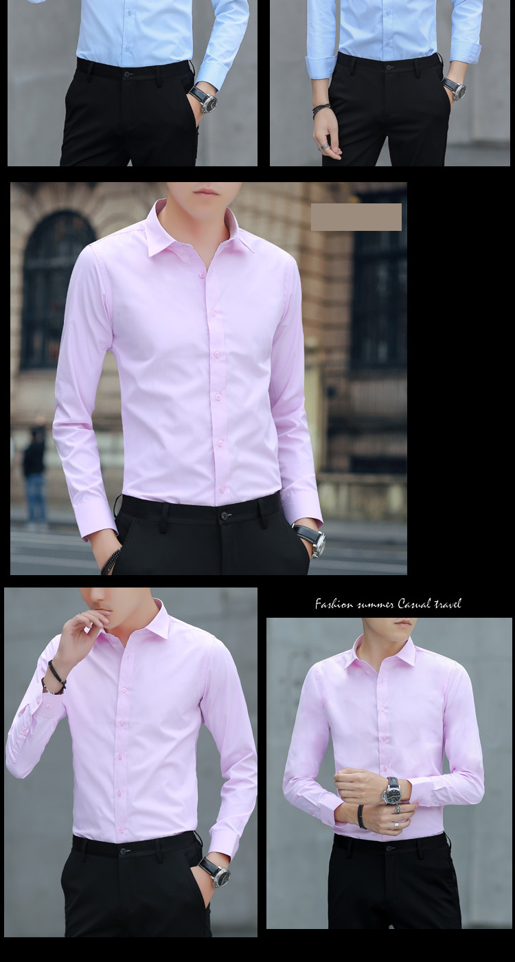 Brand New Cotton Breathable Business Casual shirts Fashion Short Sleeve Male Tops Tee Fashion Stand Down Collar shirt ZT024 27