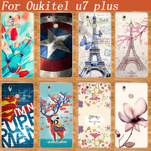 SOFT TPU Cover For Oukitel u7 plus Fashion Popular Case Lovely 8 Colored Patterns 3D DIY Painting case For Oukitel u7 plus Cover