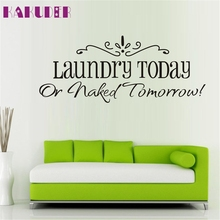58x25CM Laundry Fashion Artistic Peel and Stick Wall Stickers Decals NOV25