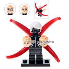 Drop Shipping Single Sale WM358 Tokyo Ghoul Kaneki Ken Kaneki WITH MASK Three Head Building Blocks Children Gifts Toys(China)