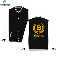 Buy Bitcoin Baseball Jacket Sweatshirt Pullover Hoodie Men Fashion Autumn Virtual Currency Hoodies Men Casual Jackets for $13.77 in AliExpress store