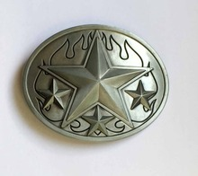 Western Star Cowboy Belt Buckle SW-BY609 suitable for 4cm wideth snap on belt with continous stock(China)