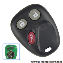 2pcs Remote key fob for GM Hummer H2 Chevrolet Avalanche Cadillac Escalade 3 button 315mhz LHJ011 2003 2004 2005 2006 remtekey
