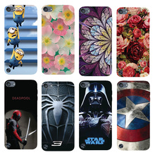 Touch 5 Cover,Original Plastic Printed Cartoon Phone Case For Apple iPod Touch 5 Back Cover Printing Drawin Fashion Phone Cases(China)