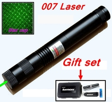 [ReadStar]RedStar 007 high 1W burn match Laser Gift set  Green laser pointer laser pen include pattern cap and battery charger