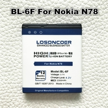LOSONCOER 2350mAh BL-6F Li-ion Polymer For Nokia N95(8G) N78 N79 6788 6788I BL 6F BL6F Replacement Phone Bateria Betteries