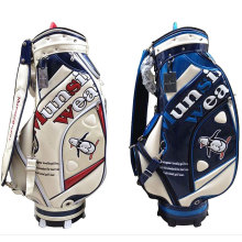 New Munsing wear Golf staff bag High quality PU Golf clubs bag blue/white colors in choice 9.5 inch Golf bag Free shipping