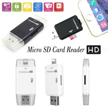 i Flash Device Drive USB PC Phone Micro SD / TF Card Reader For iPhone 6 6S 7 Plus 5 5S For iPad Pro 4 5 6 Mini 2 3 Air 2