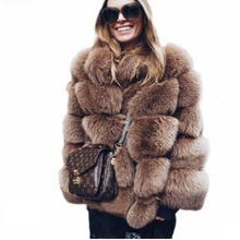 Buy Latest Thick Warm Winter Fur Coat Women Faux Fox Fur Jacket Autumn Fashion Casual Outerwear Girls Plus Size Fur Coat 2018 WOMEN DOWN JACKET Store Store) for $55.63 in AliExpress store