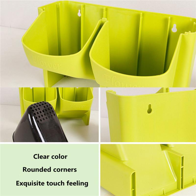 Stackable 2-Pockets Vertical Wall Planter Self Watering Hanging Garden Flower Pot Planter for Indoor/Outdoor 10