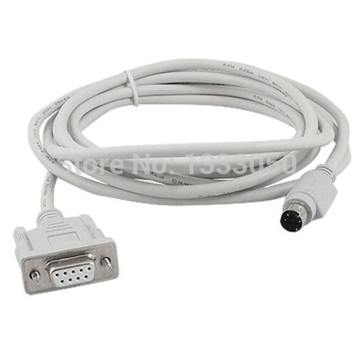11.11 Free Shippinng 8.2 Ft 4P Mini Din to DB9P RS422 PLC Programming Cable for Panasonic FP1<br><br>Aliexpress