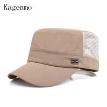 Kagenmo Male military hat mesh breathable comfortable cap sun hats leisure cool man army caps mesh truck cap 10pcs/lots(China)