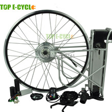 250w electric bike hub motor kit with lithium ion battery