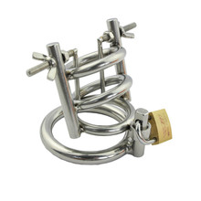 Buy Stainless Steel Male Chastity Device Urethral Dilators,Cock Cage,Chastity Belt,Penis Ring,Virginity Lock Sex Toys Men
