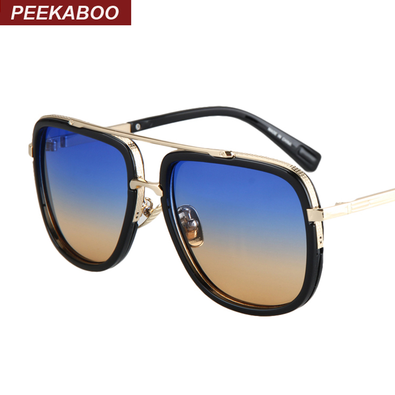 Peekaboo Mens casual sunglasses brand designer big square men driving sun glasses women gradient lens black lunettes de soleil<br><br>Aliexpress