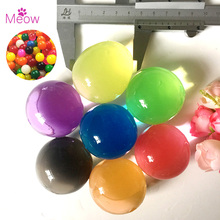 20pcs/lot 30-50mm Big Crystal Soil Mud Hydrogel Gel Kids Toy Water Beads Growing Up Water Balls Wedding Home Flower Decoration(China)