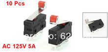 10 Pcs / Lot x AC 125V 5A 3 Pin Roller Hinge Lever Arm Miniature Micro Switch E-Switch SPDT 1 NO 1 NC