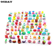 50/100pcs Family Shopping Mixed Toy Doll Shops Season Fruit Merchants For Kids Doll Play House Cartoon Toys Children's Day Gift(China)