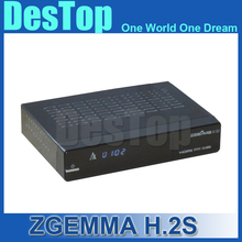1pc/lot DVB S/S2 twin tuner enigma 2 Linux fastest running ZGEMMA H.2S Satellite tv receiver support world tv receiver