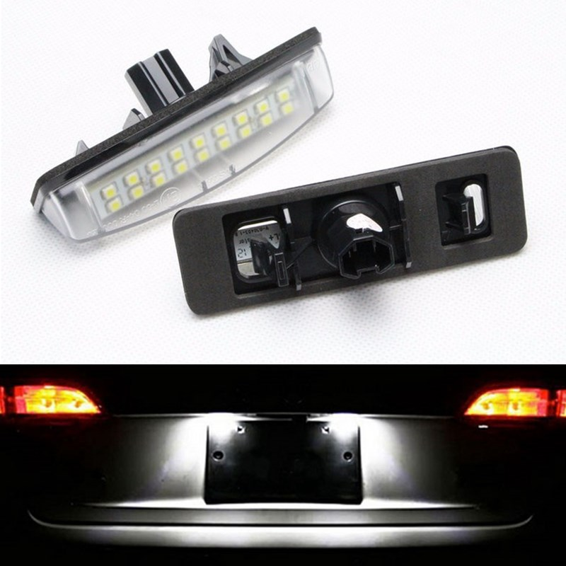 for Toyota Camry Aurion Prius Lexus IS300 GS430 RX330 ES300  Error Free 3528 SMD Auto LED License Number Plate Lamps Car Light<br><br>Aliexpress