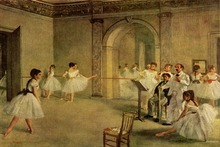 paintings artwork dancing impressionist painting impressionism ballerinas Home Decoration Canvas Poster