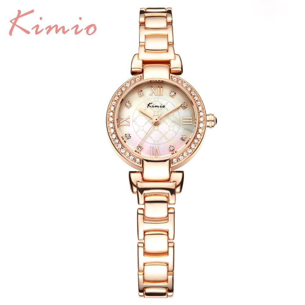2017 New Kimio Brand Womens watches casual Quartz bracelet wristwatches ladies dress Rhinestone Diamond watch with Gift Box<br><br>Aliexpress