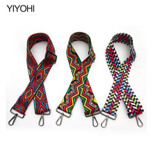 YIYOH New Bag Part Fashion Handle for Bags Strap You Handle Bag Accessories Multicolor Canvas Shoulder Straps for Handbags Belt